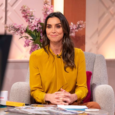 Christine Lampard marks and Spencer trousers