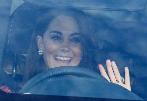 kate middleton queens christmas lunch tartan