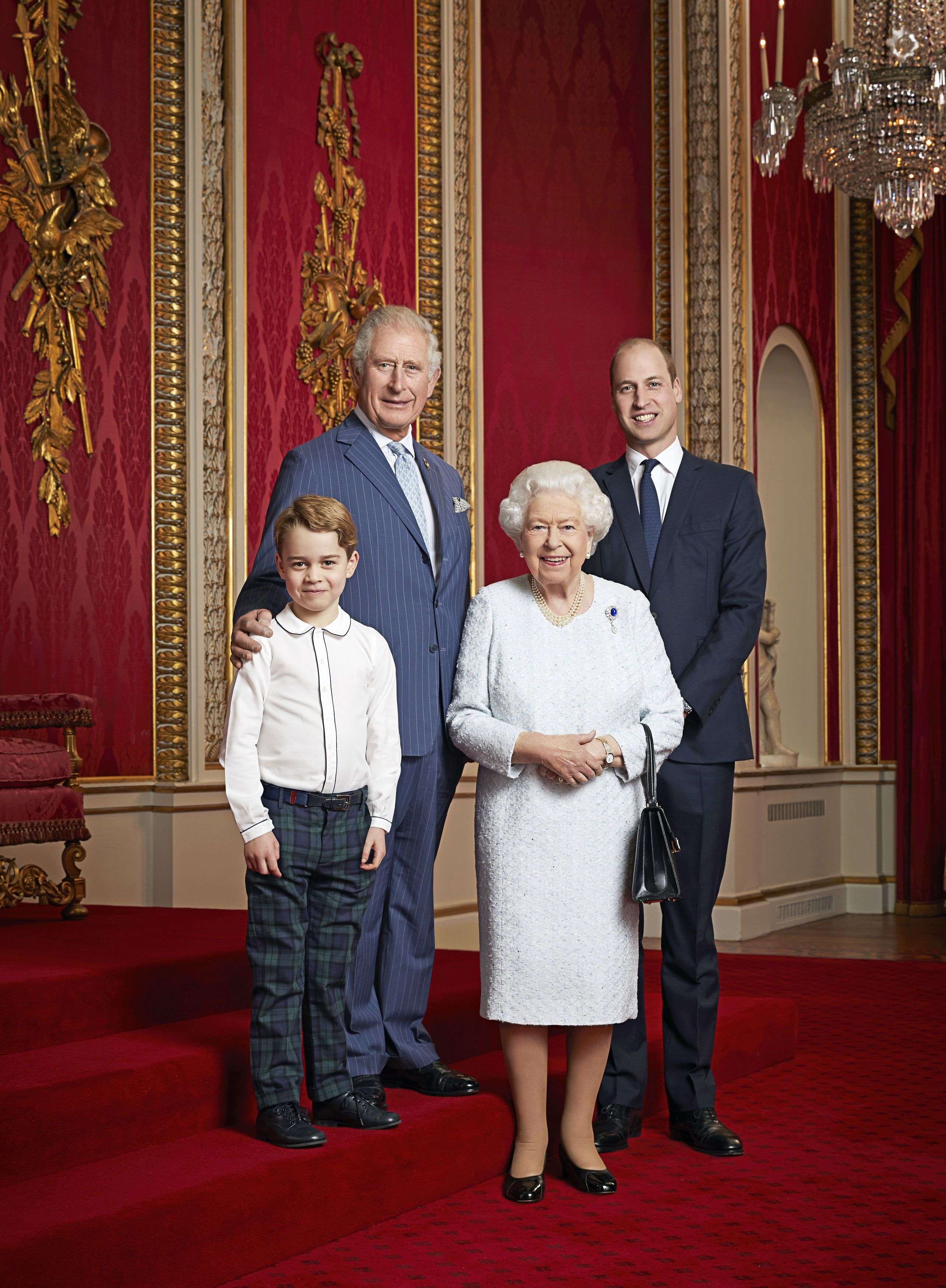 Image result for royal portrait george tartan four generations