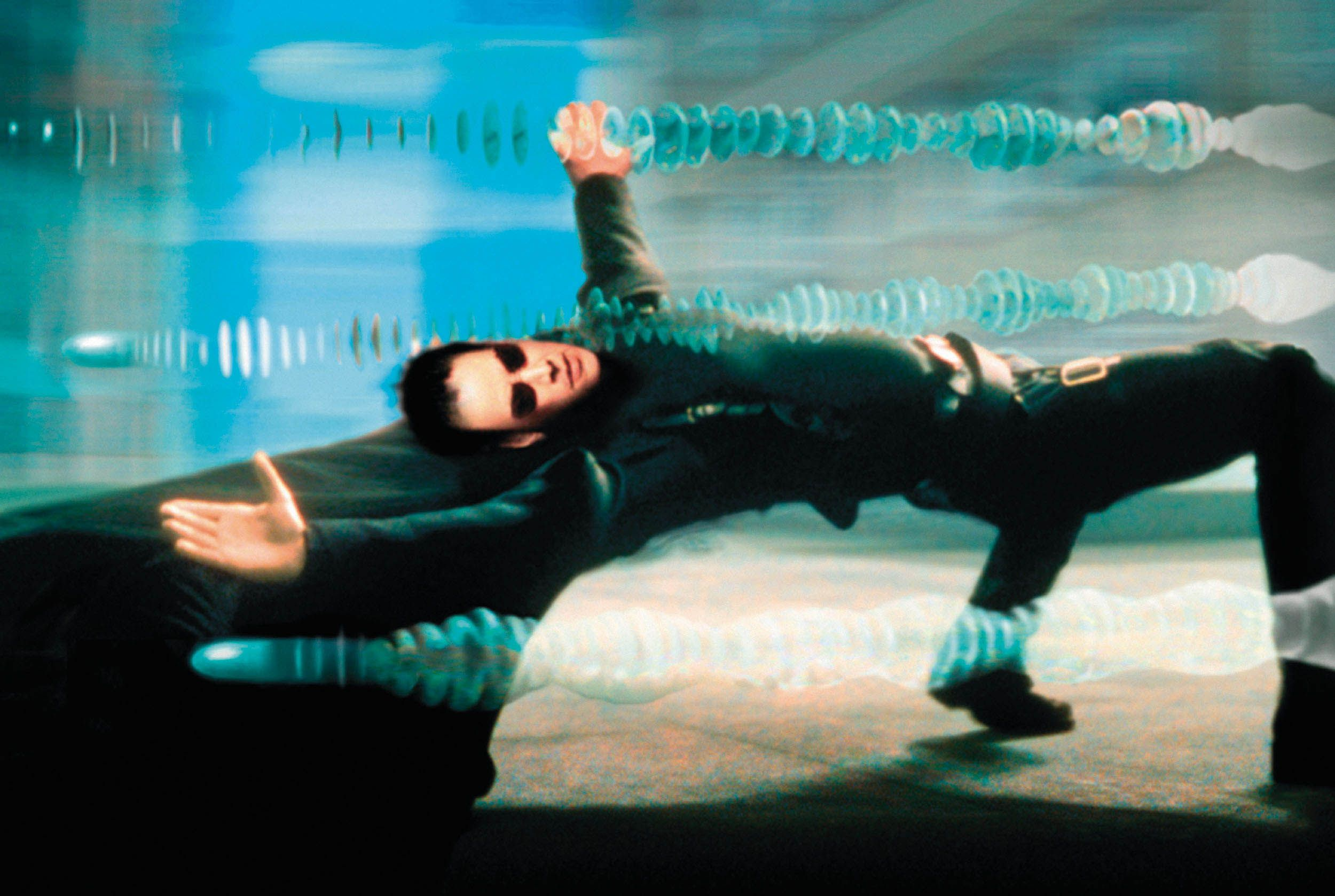 Keanu Reeves in the 1999 film The Matrix.