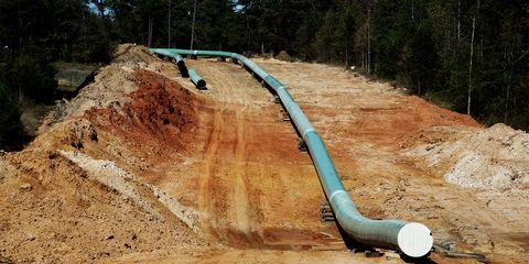 Soil, Slope, Pipe, Geological phenomenon, Road, Rock,