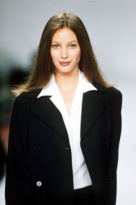 mandatory credit photo by steve woodshutterstock 250613ad christy turlington modelling on catwalk spring summer fashion shows, new york, america   1995