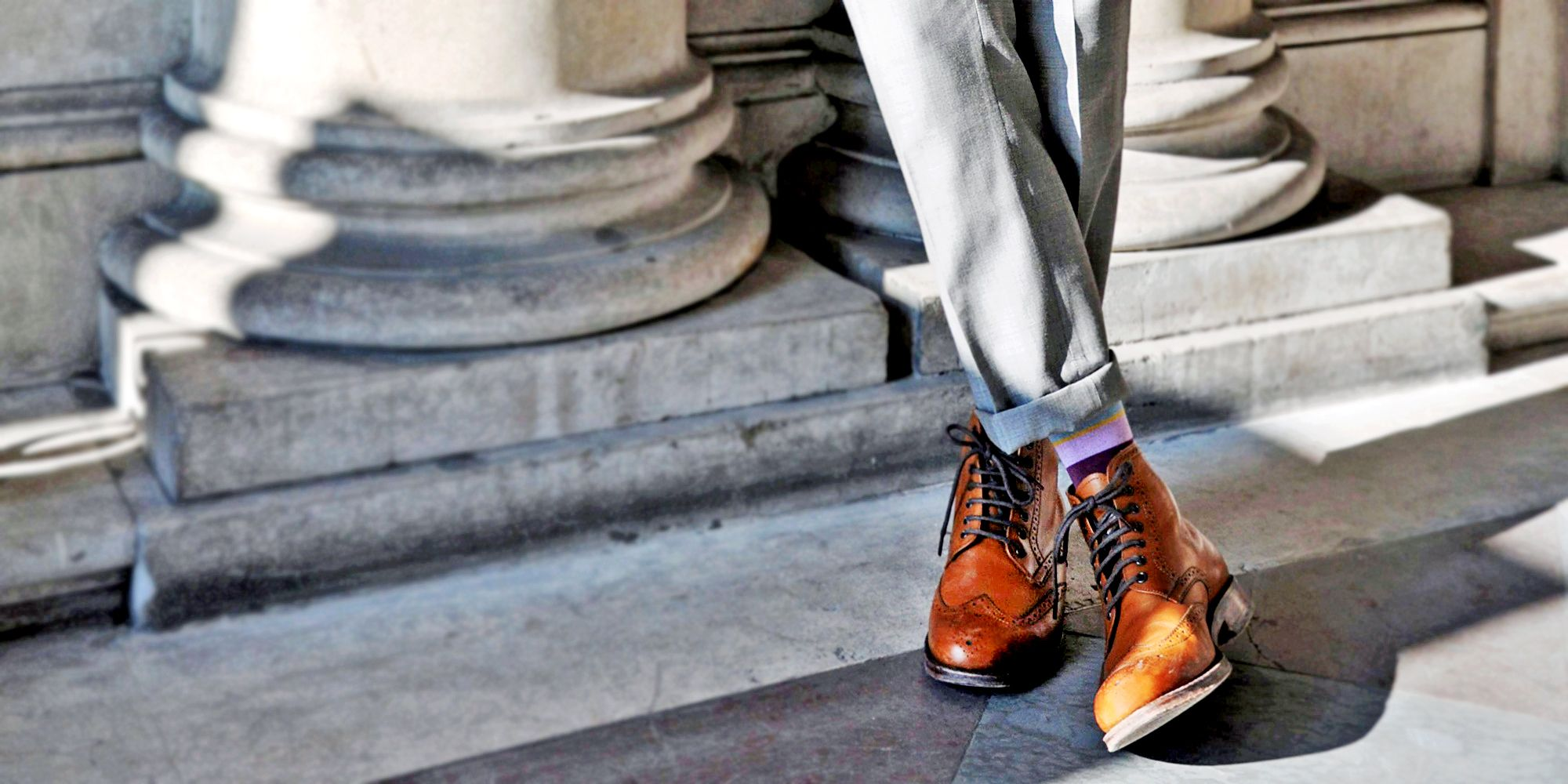 mens dress boots with suit