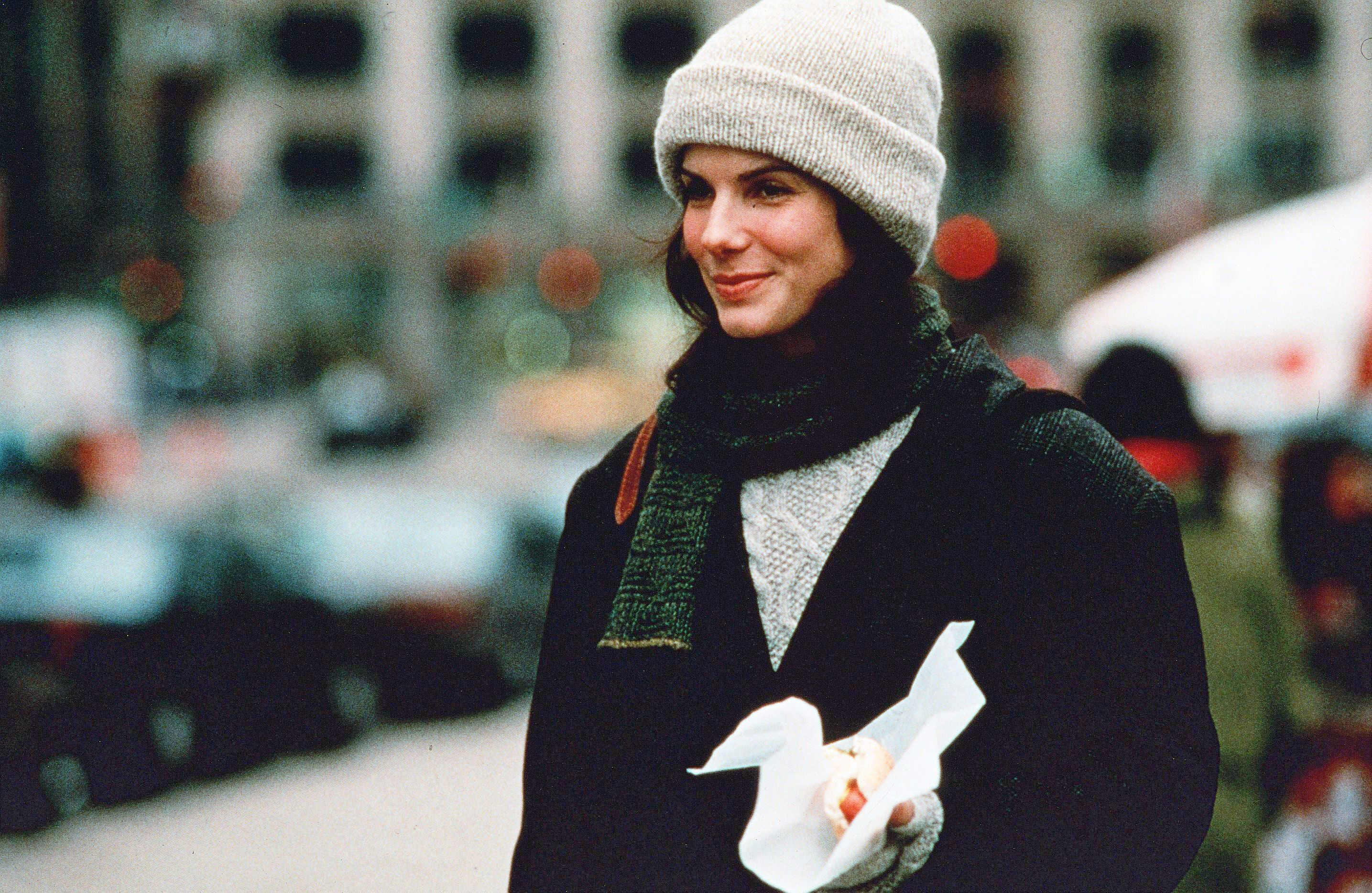 3cdc0250c175da Every Sandra Bullock Outfit in While You Were Sleeping Is Pajamas
