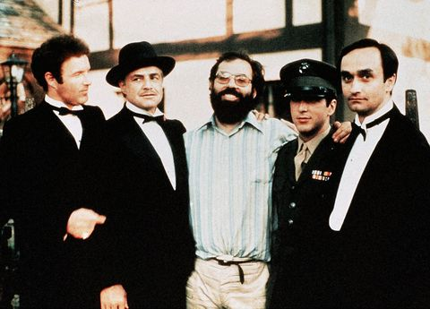 editorial use only no book cover usage mandatory credit photo by paramountkobalshutterstock 5886165h james caan, marlon brando, francis ford coppola, al pacino, john cazale the godfather   1972 director francis ford coppola paramount pictures usa onoff set drama le parrain