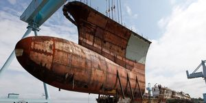 Aircraft Carrier Construction, Newport News, USA
