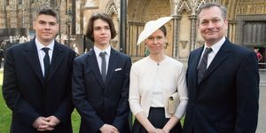 Lady Sarah Chatto with Daniel Chatto, Arthur Chatto and Samuel Chatto