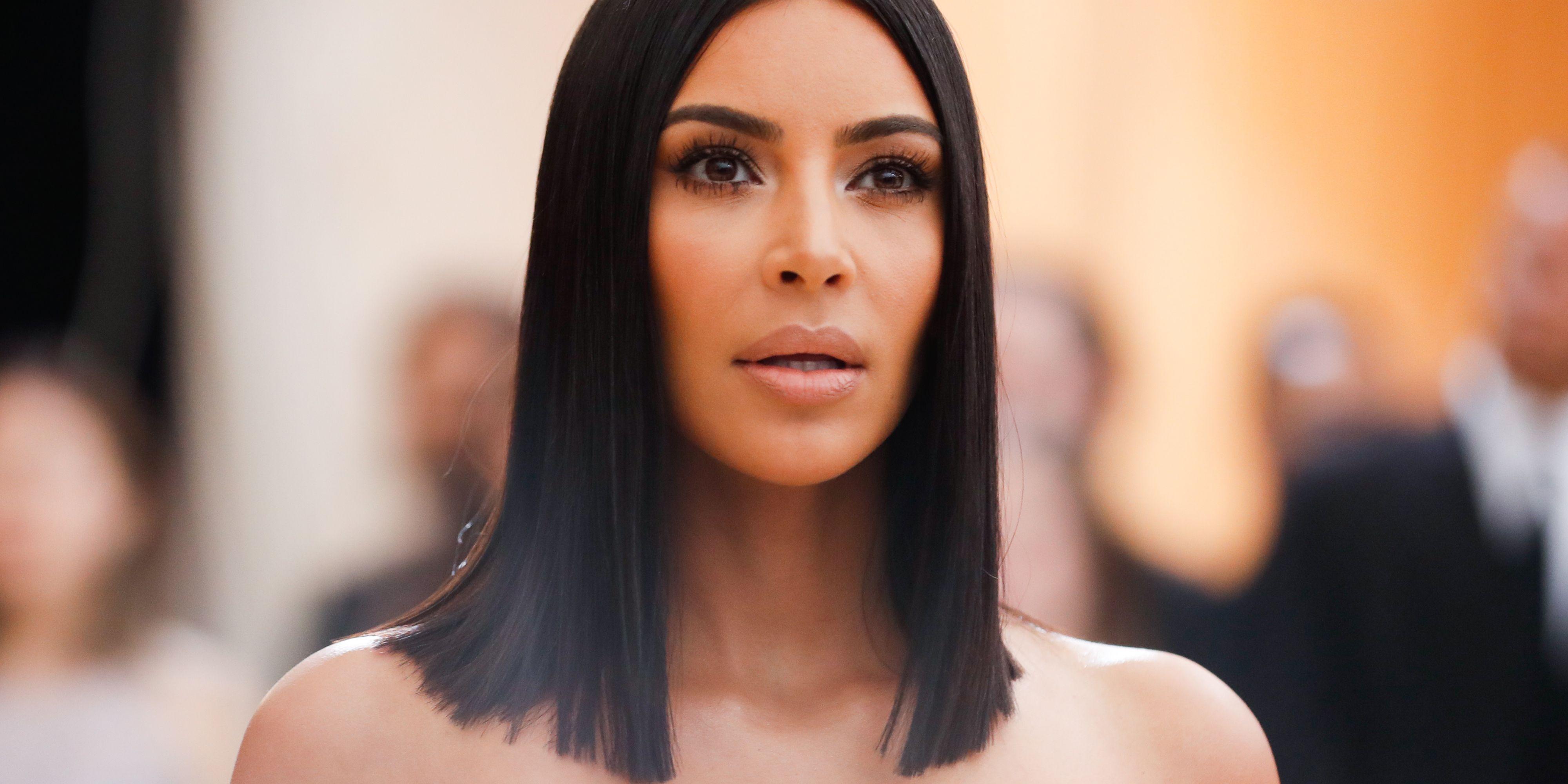 Kim Kardashian Met Gala 2017 bob