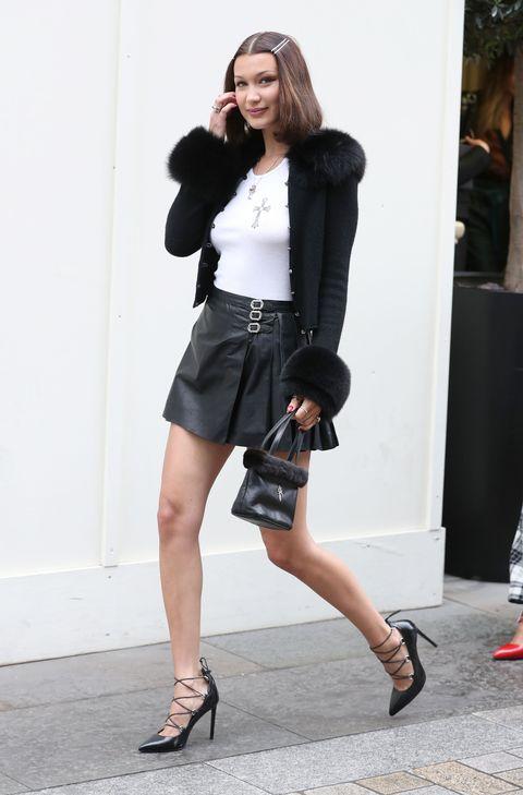 Clothing, Black, Street fashion, Fashion, Leg, Waist, Snapshot, Shorts, Footwear, Fashion model,