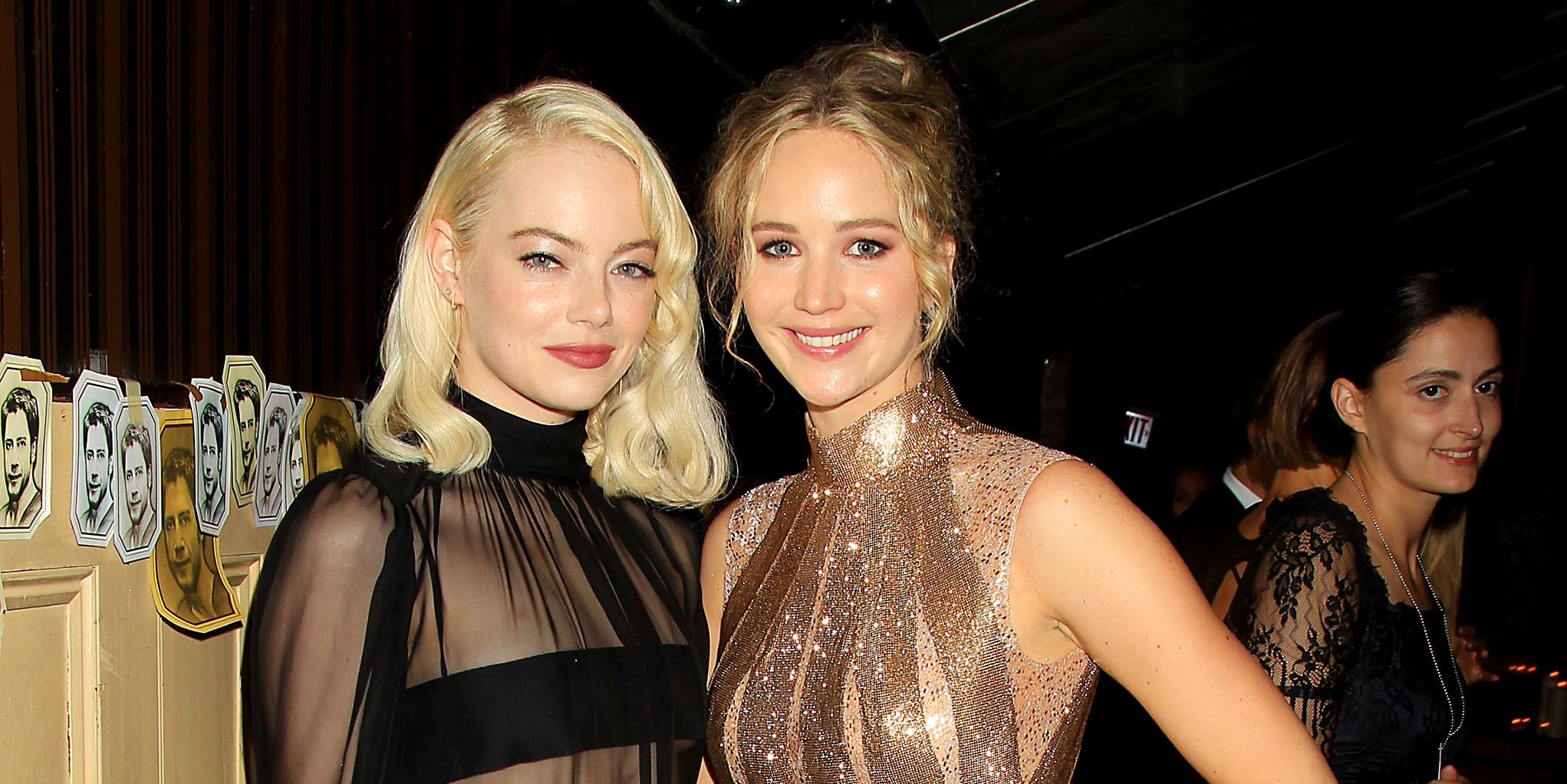 Emma Stone and Jennifer Lawrence