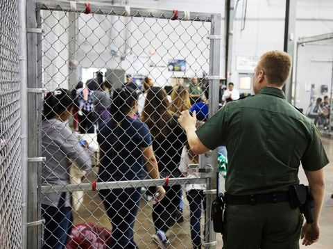 Inside the McAllen Border Patrol Processing Center Where