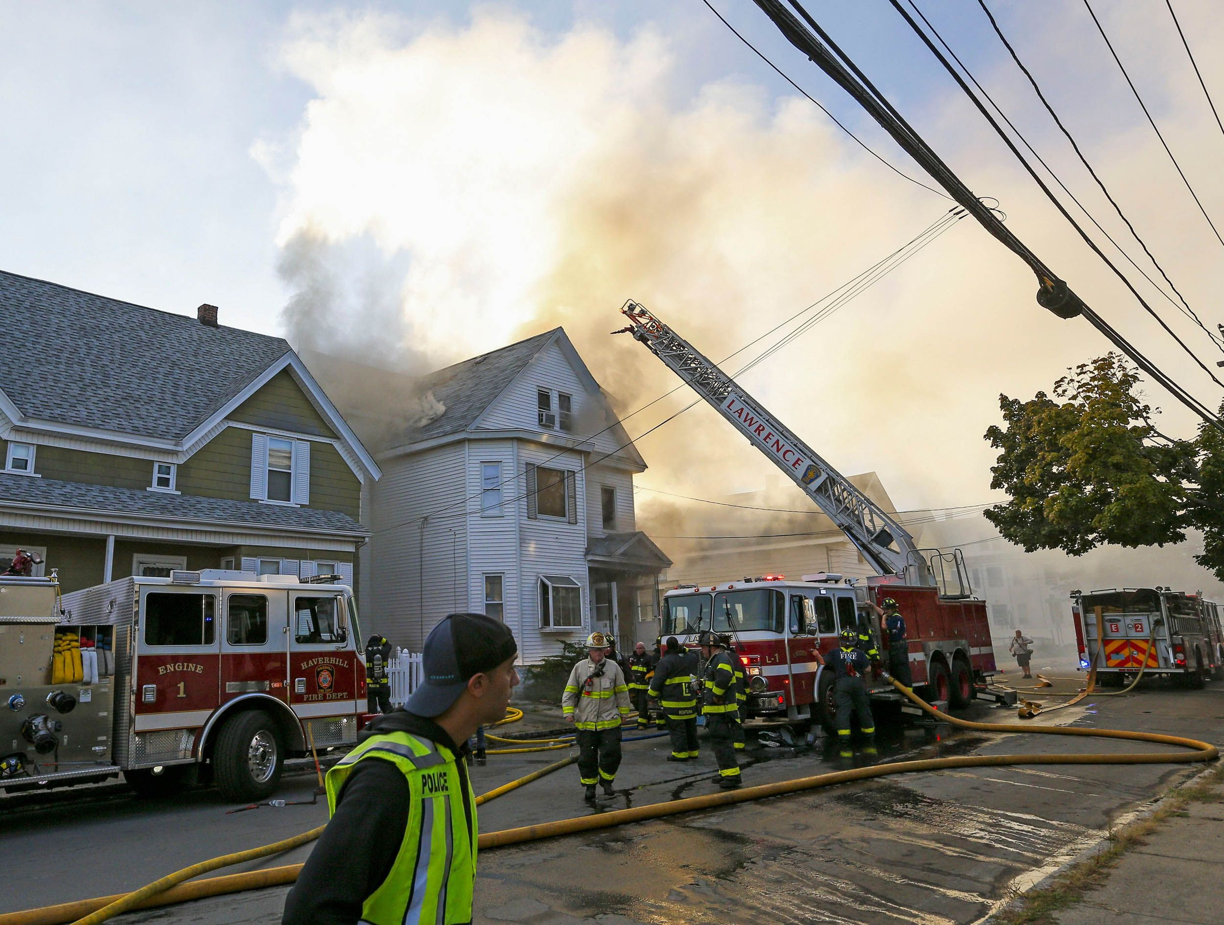 A scene from the explosion in Lawrence, Massachusetts