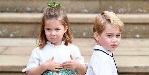 91ac533803b Every Photo of Prince George and Princess Charlotte at Princess Eugenie s  Wedding