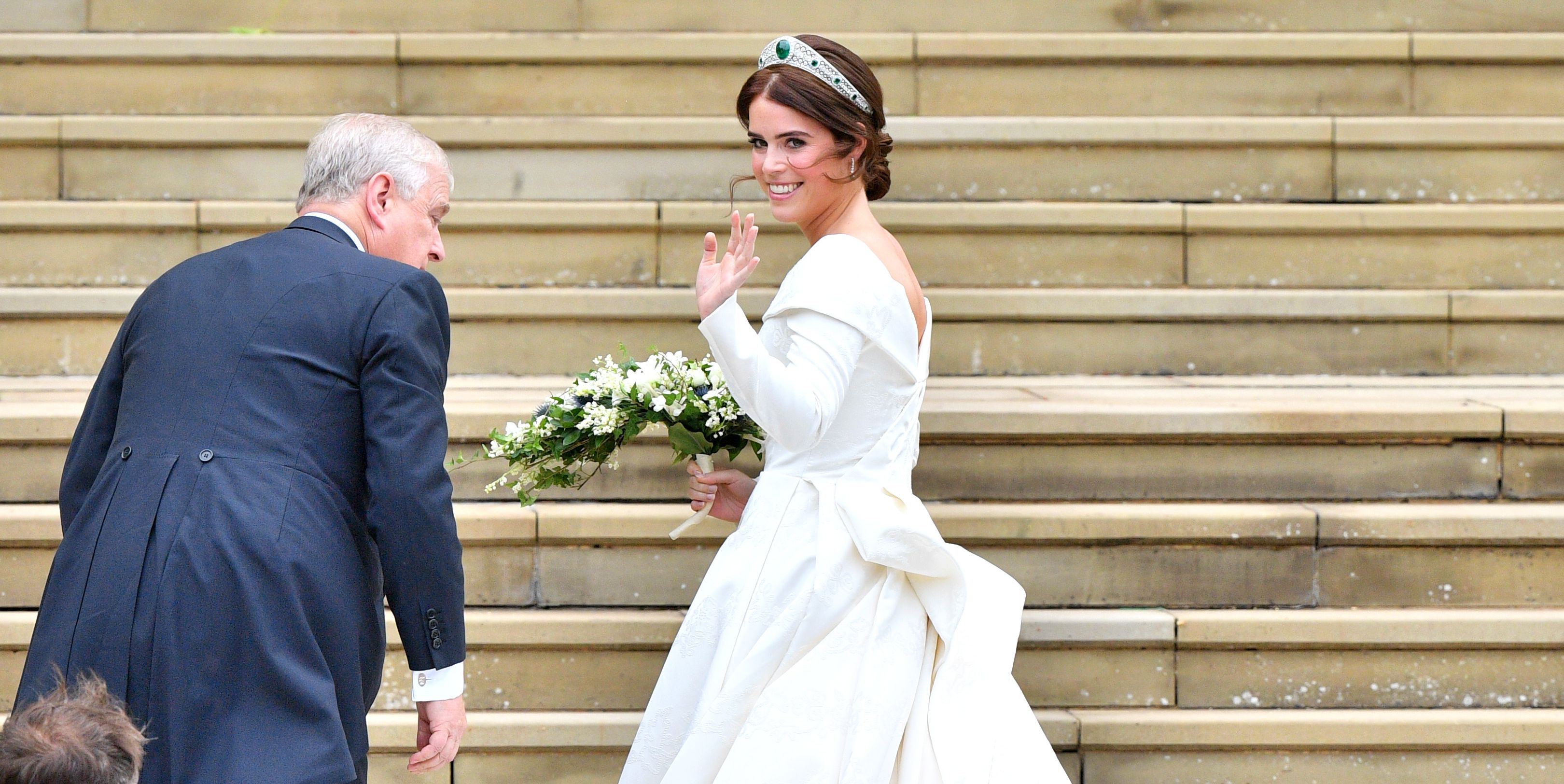 All the Details on Princess Eugenie's Peter Pilotto Royal Wedding Dress