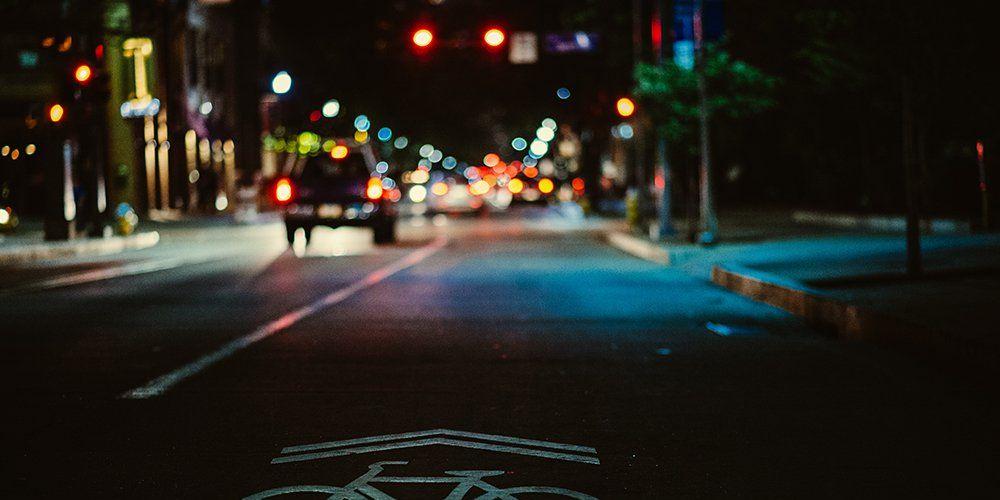 Riding at night.