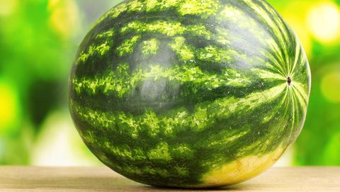 Yellow spot on watermelon