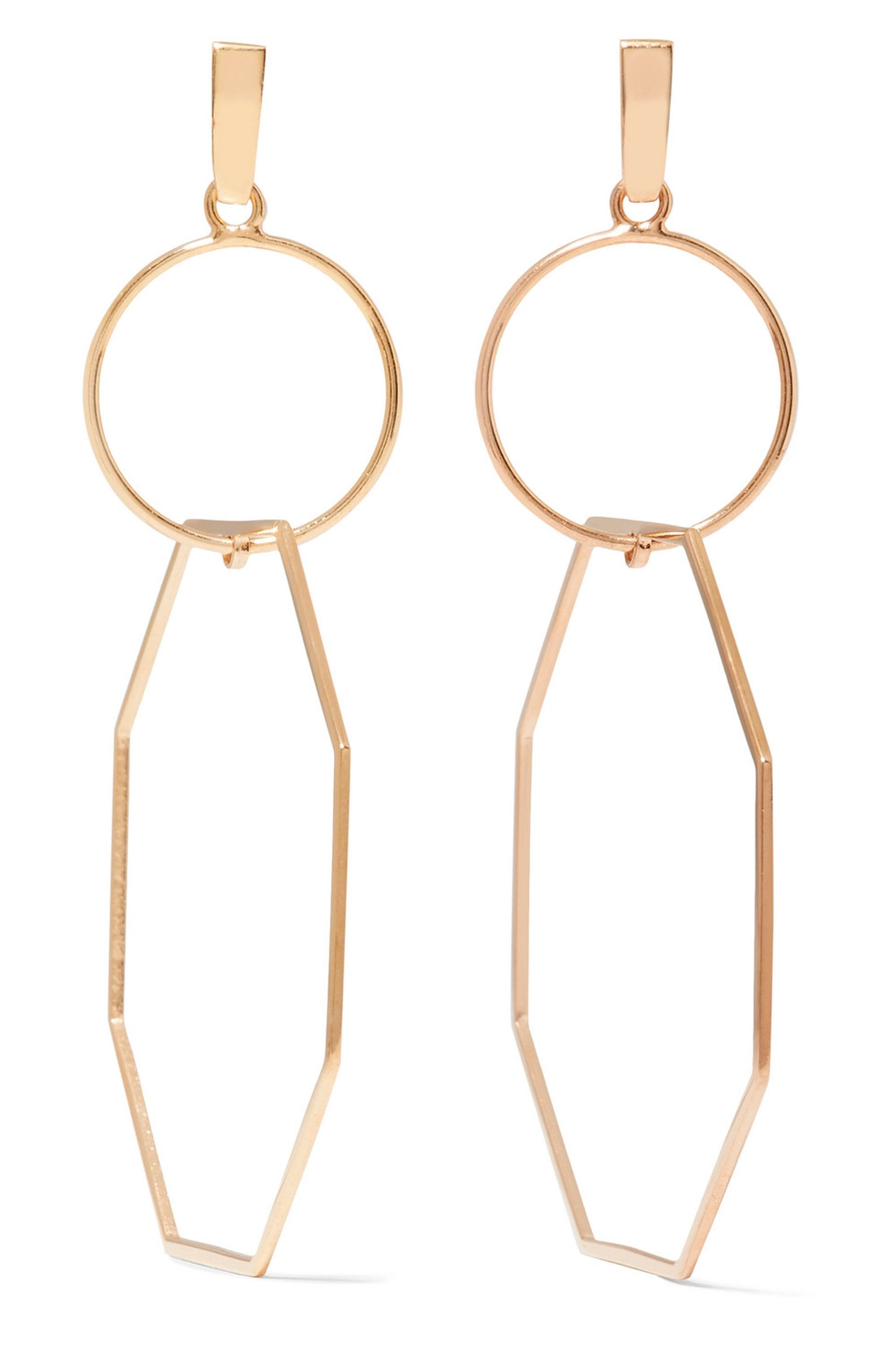 earrings gold products asymmetric store pk sapphireonline outline