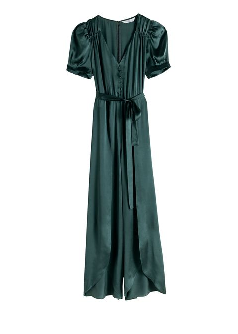Clothing, Dress, Day dress, Green, Sleeve, Robe, Shoulder, Cocktail dress, Gown, Textile,