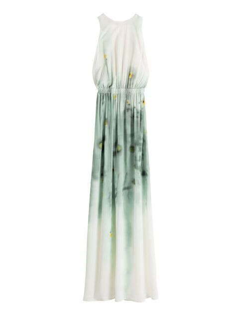 Clothing, White, Dress, Day dress, Gown, Shoulder, Strapless dress, Outerwear, A-line, Neck,