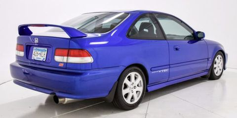 how much would you pay for this pristine 27 000 mile 2000 honda civic si. Black Bedroom Furniture Sets. Home Design Ideas