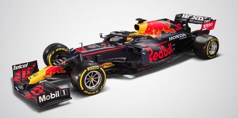 monoplaza de red bull para la temporada 2021 de fórmula 1