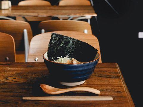 Wood, Bowl, Chopsticks, Comfort food, Food, Dish, Table, Cuisine, Japanese cuisine, Tableware,