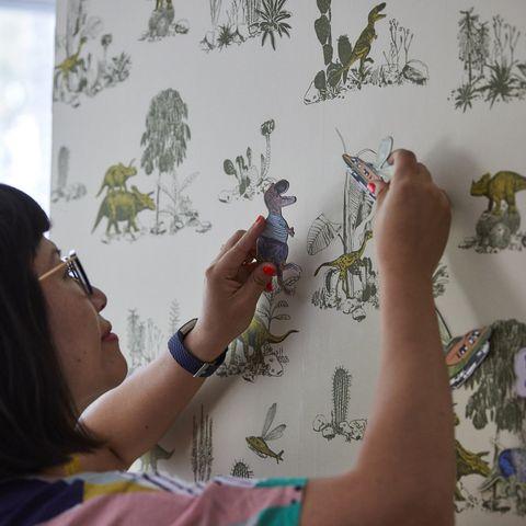 Best Selling Magnetic Dinosaur Wallpaper Wins Etsy Design Award