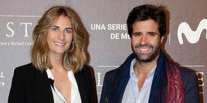 Sibi Montes y Álvaro Sanchís en el estreno de 'La Peste' en Sevilla.