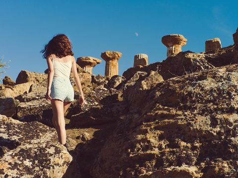 Photograph, Sky, Rock, Beauty, Fun, Summer, Badlands, Vacation, Geology, Leg,