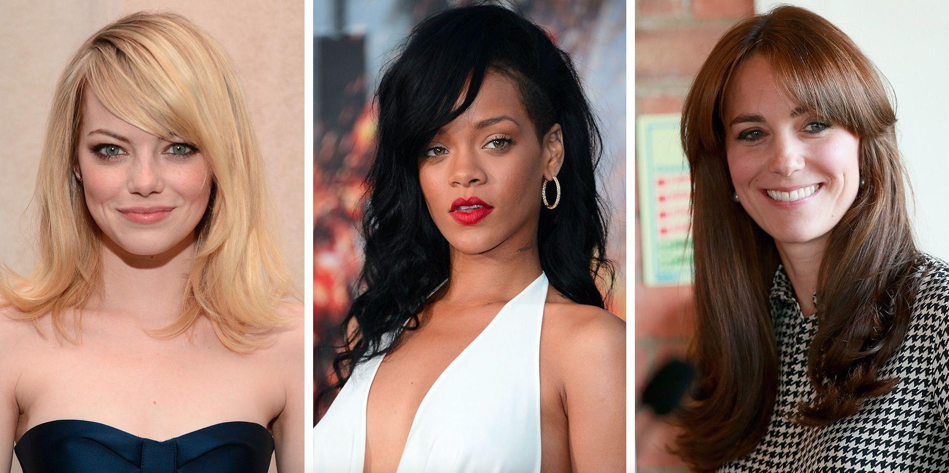 19 Side fringe hairstyles for 2019 , Celebrity inspiration