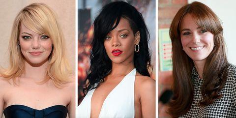 19 side fringe hairstyles for 2018 celebrity inspiration