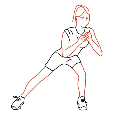 side lunge groin stretch