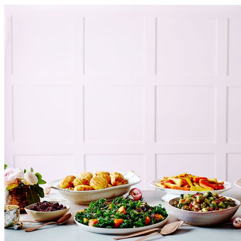 best christmas side dishes roasted squash and kale salad