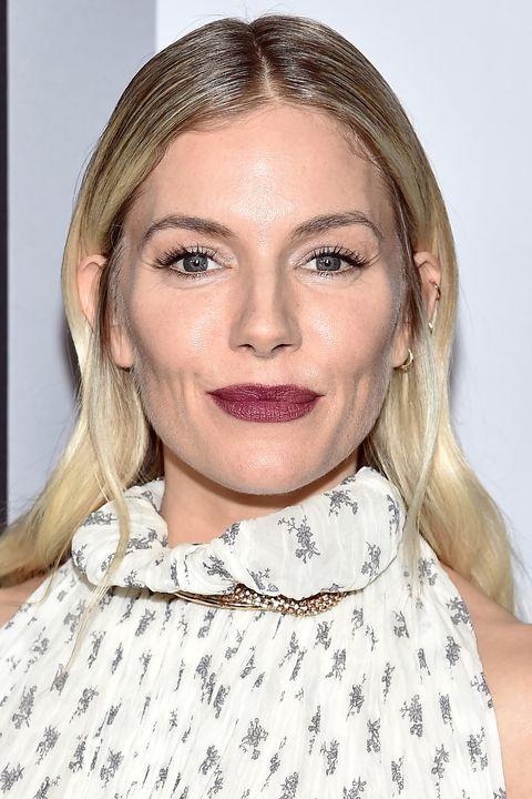 Sienna Miller Beauty Muse plum lipstick