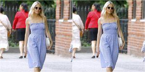 Sienne Miller blue summer dress