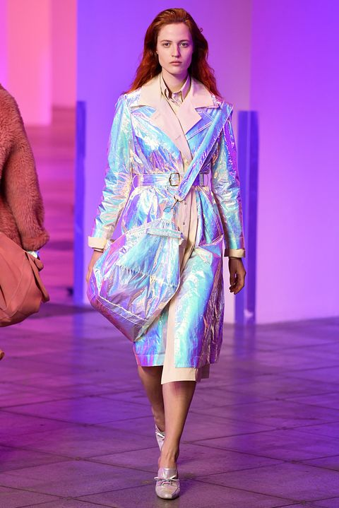 fallwinter 2018 fashion holographic trend  designers