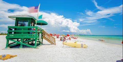Siesta Key beach at Sarasota, Florida, USA