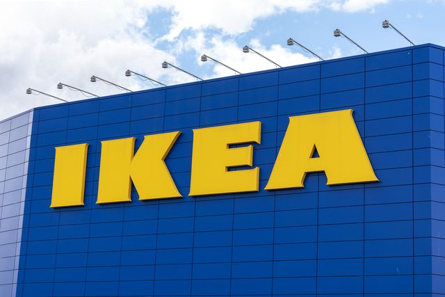 a sign at the scandinavian chain ikeas store in greenwich