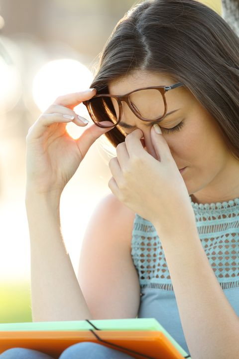 Glasses, Nose, Eyewear, Beauty, Skin, Sunlight, Hand, Photography, Vision care, Leisure,