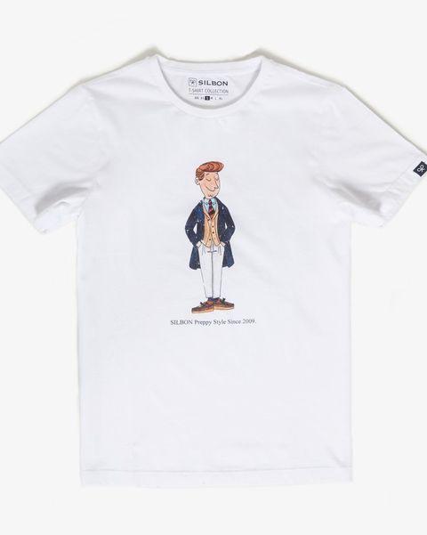 camiseta dibujo con americano