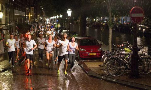 Rain, Night, Vehicle, Car, Pedestrian, Recreation, Traffic, Midnight, Street, Running,
