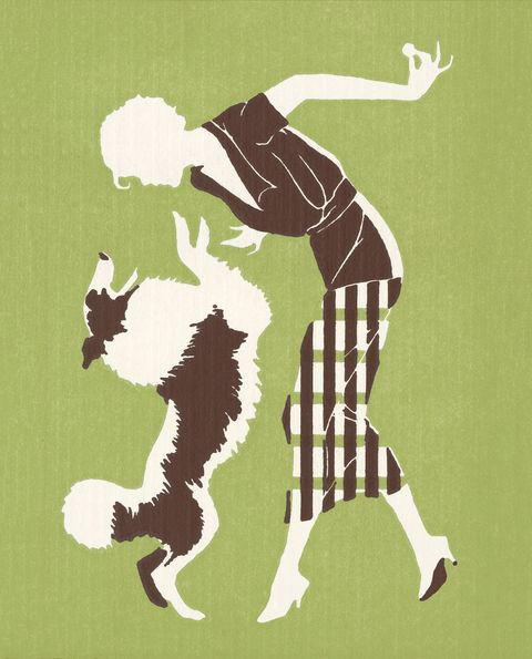 Silhouette of Woman With Dog