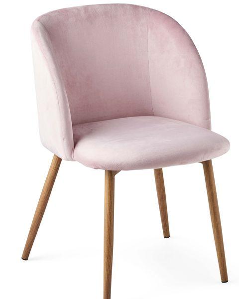 silla de terciopelo rosa