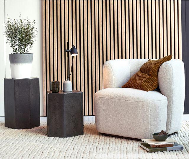 sillón lana bouclé