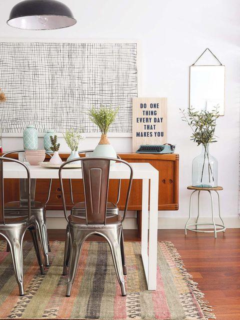 Mesa y aparador vintage