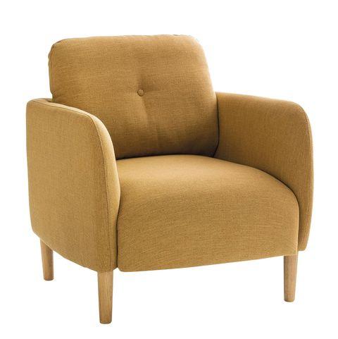 sillón jimi de estilo escandinavo en color mostaza