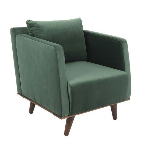 sillón tapizado en terciopelo modelo coimbra