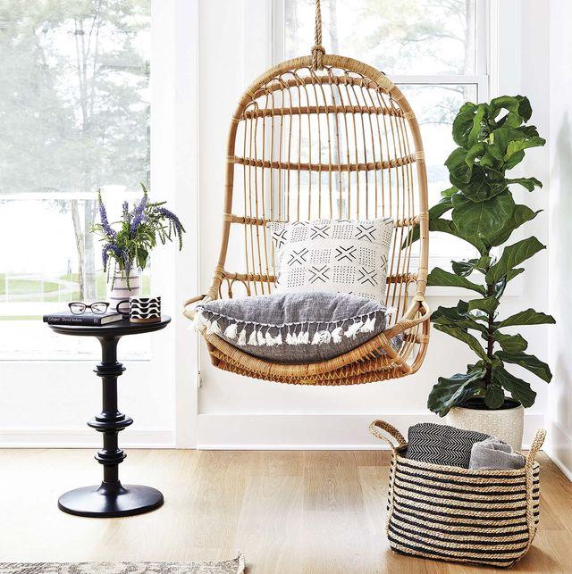 sillón colgante de fibra
