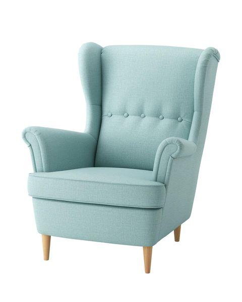 strandmon sillón orejero, skiftebo turquesa claro