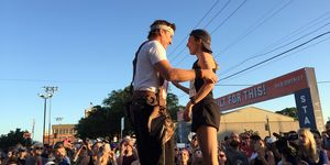 Chip Gaines and Gabriele Grunewald